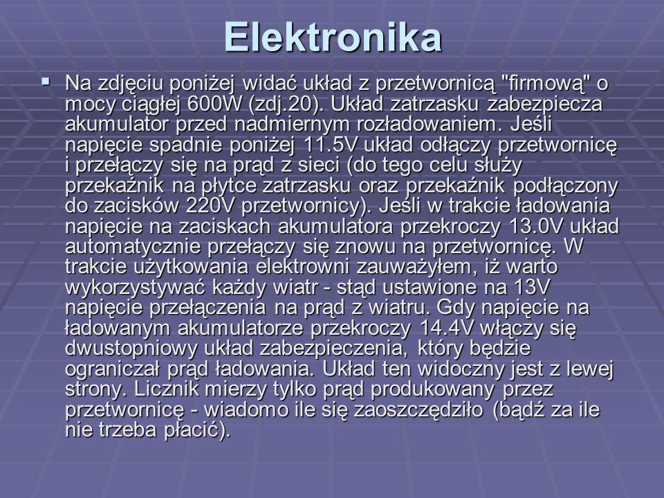 Elektronika  Na zdjęciu poniżej widać układ z przetwornicą firmową o mocy ciągłej 600W (zdj.20).