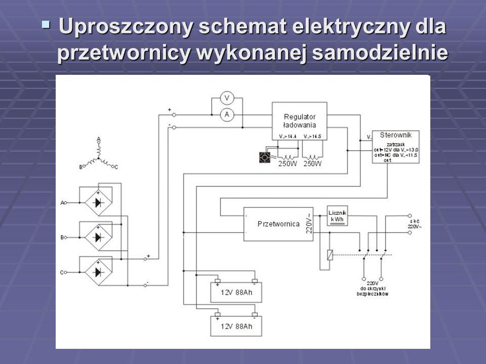  Uproszczony schemat elektryczny dla przetwornicy wykonanej samodzielnie