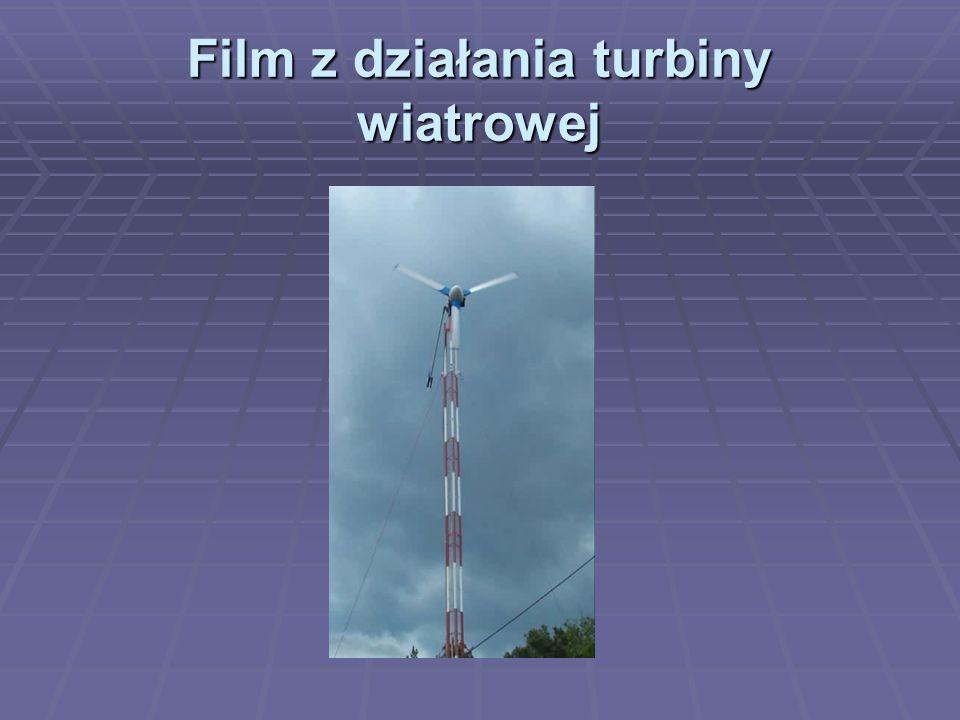 Film z działania turbiny wiatrowej