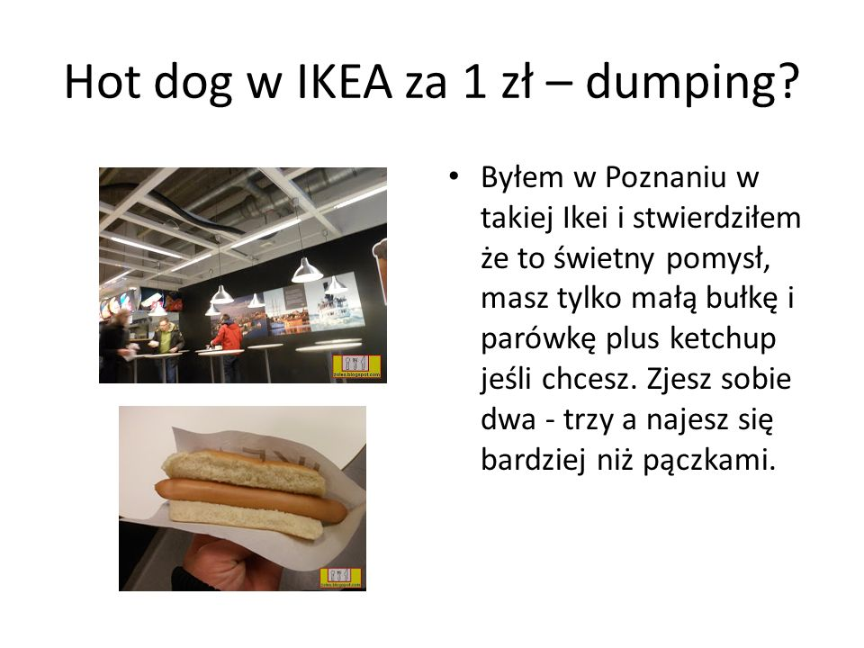 Hot dog w IKEA za 1 zł – dumping.