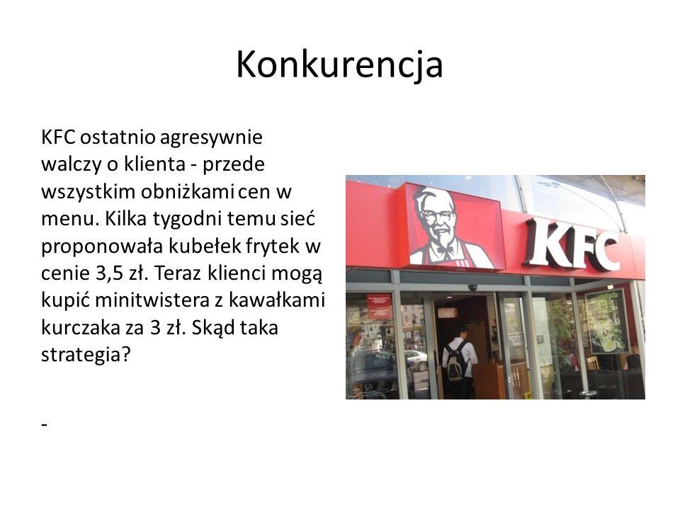 Konkurencja KFC ostatnio agresywnie walczy o klienta - przede wszystkim obniżkami cen w menu.