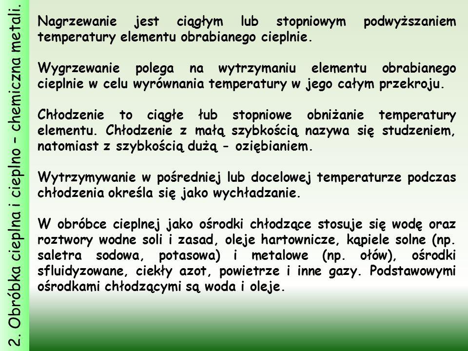 2.Obróbka cieplna i cieplno – chemiczna metali.