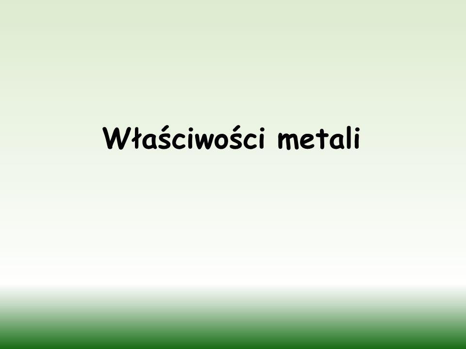 Miedziany krążek wytrawiony powierzchniowo dla uwidocznienia struktury krystalicznej Aluminium Cynk Cyna Nikiel Ołów Źródło: www.scholaris.pl, pl.wikipedia.orgwww.scholaris.pl