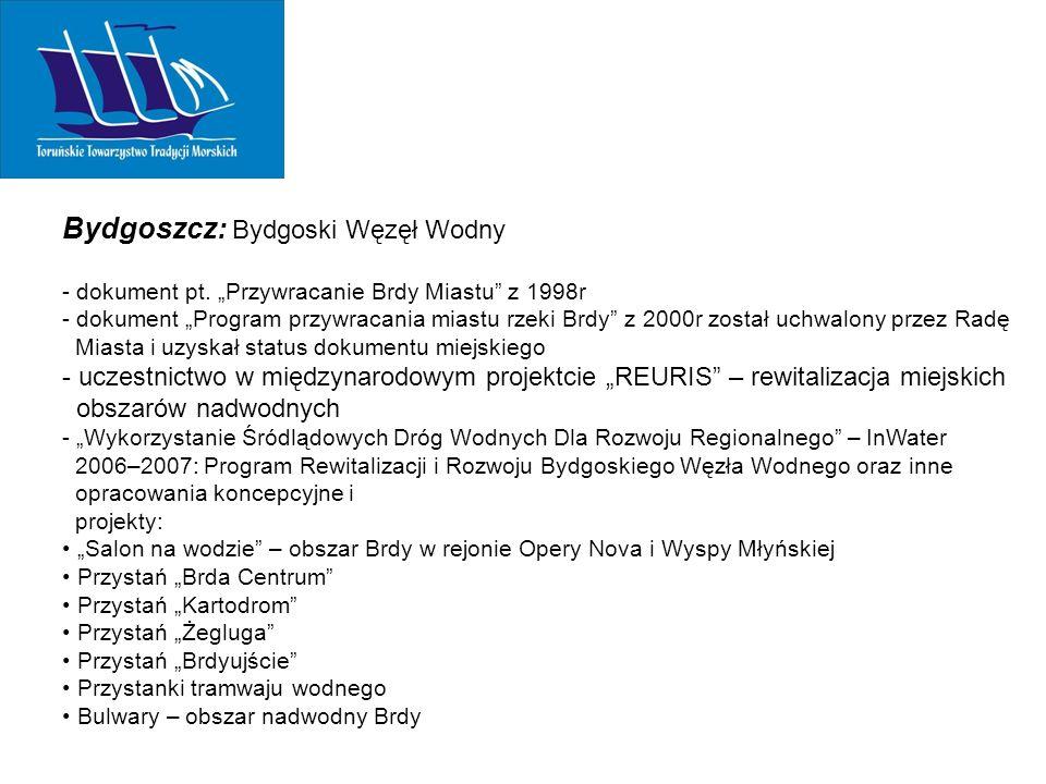 Bydgoszcz: Bydgoski Węzęł Wodny - dokument pt.