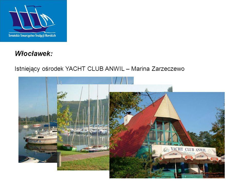 Włocławek: Istniejący ośrodek YACHT CLUB ANWIL – Marina Zarzeczewo