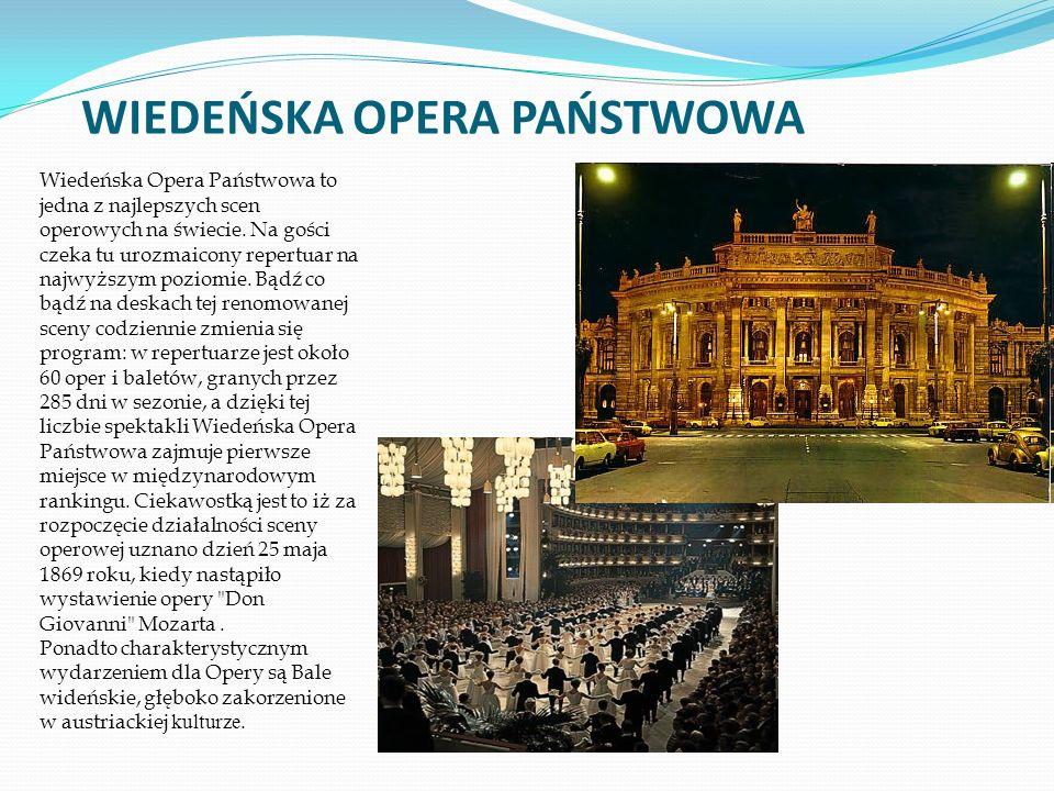 Wiedeńska Opera Państwowa to jedna z najlepszych scen operowych na świecie.