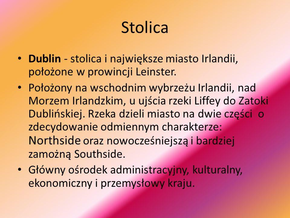 Stolica Dublin - stolica i największe miasto Irlandii, położone w prowincji Leinster.