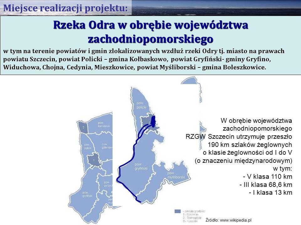 Rzeka Odra w obrębie województwa zachodniopomorskiego w tym na terenie powiatów i gmin zlokalizowanych wzdłuż rzeki Odry tj.