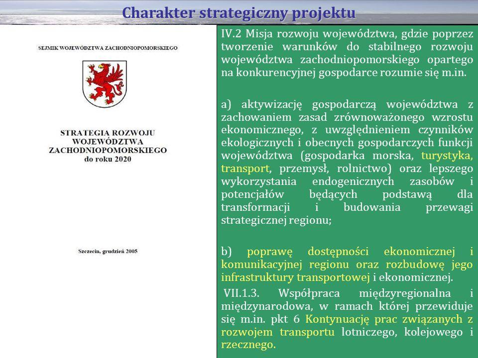 IV.2 Misja rozwoju województwa, gdzie poprzez tworzenie warunków do stabilnego rozwoju województwa zachodniopomorskiego opartego na konkurencyjnej gospodarce rozumie się m.in.