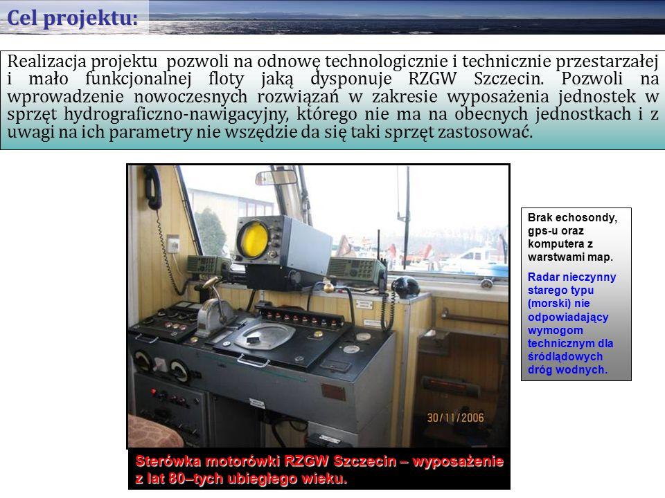 Realizacja projektu pozwoli na odnowę technologicznie i technicznie przestarzałej i mało funkcjonalnej floty jaką dysponuje RZGW Szczecin.