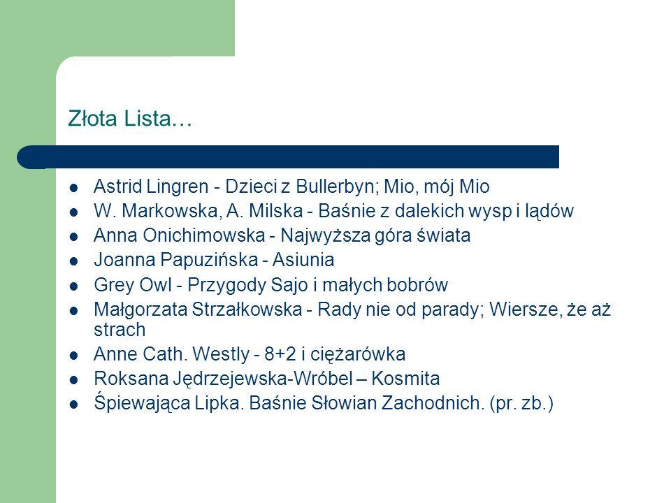 Złota Lista… Astrid Lingren - Dzieci z Bullerbyn; Mio, mój Mio W.