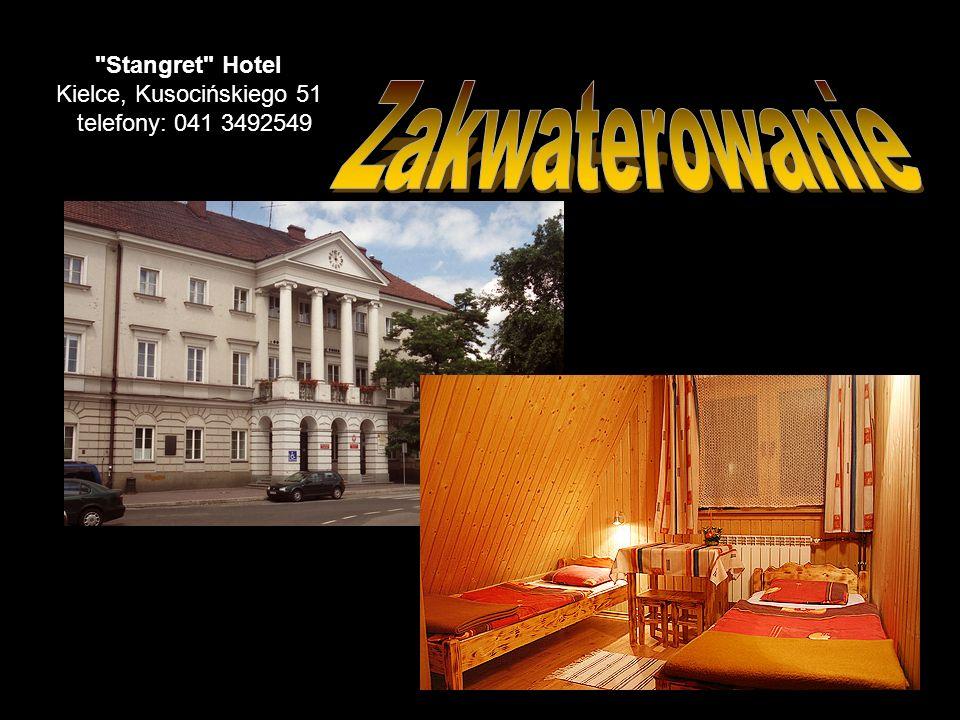 Stangret Hotel Kielce, Kusocińskiego 51 telefony: 041 3492549
