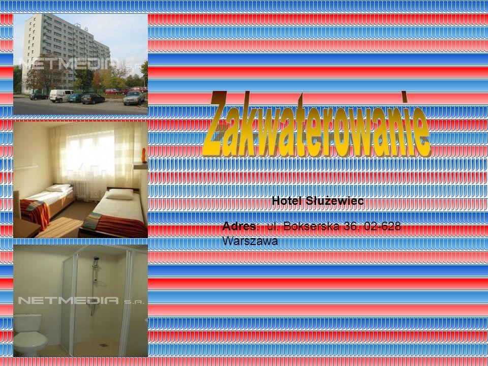 Adres: ul. Bokserska 36, 02-628 Warszawa Hotel Służewiec