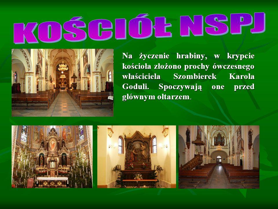 Na życzenie hrabiny, w krypcie kościoła złożono prochy ówczesnego właściciela Szombierek Karola Goduli.