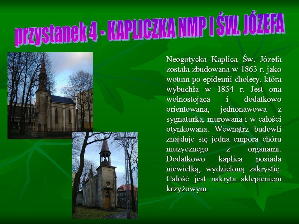 Neogotycka Kaplica Św.Józefa została zbudowana w 1863 r.