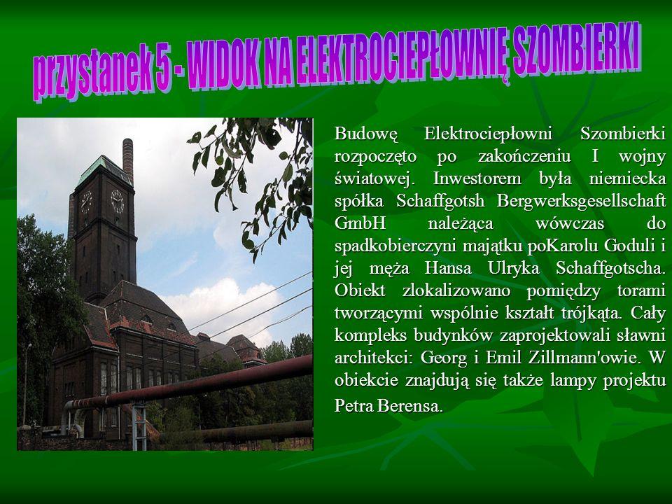 Budowę Elektrociepłowni Szombierki rozpoczęto po zakończeniu I wojny światowej.