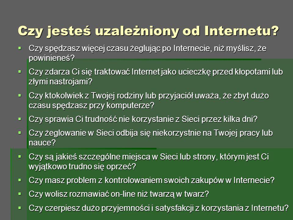 Czy jesteś uzależniony od Internetu.
