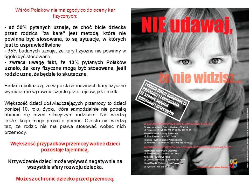 Wśród Polaków nie ma zgody co do oceny kar fizycznych: - aż 50% pytanych uznaje, że choć bicie dziecka przez rodzica