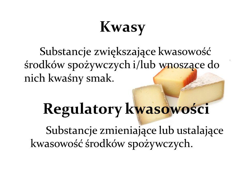 Substancje zwiększające kwasowość środków spożywczych i/lub wnoszące do nich kwaśny smak.