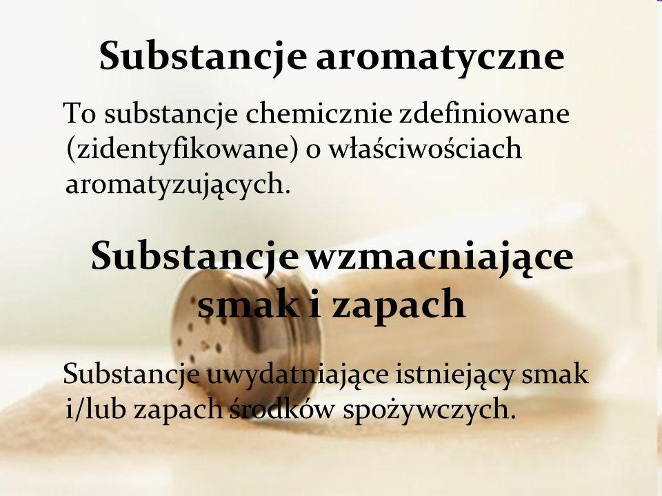 To substancje chemicznie zdefiniowane (zidentyfikowane) o właściwościach aromatyzujących.