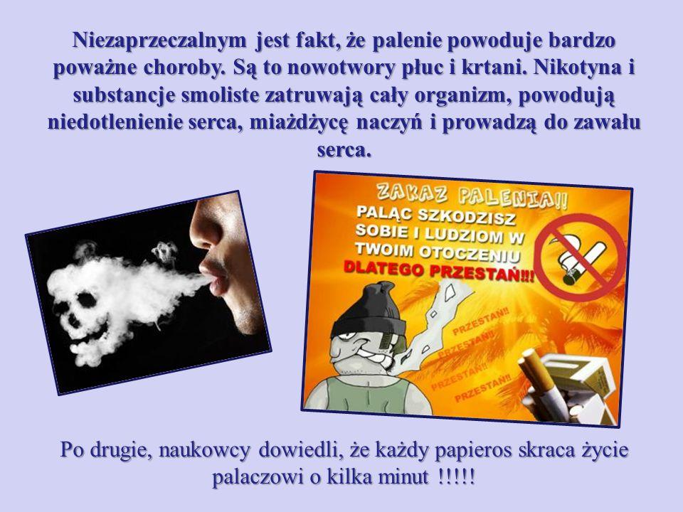 Niezaprzeczalnym jest fakt, że palenie powoduje bardzo poważne choroby.