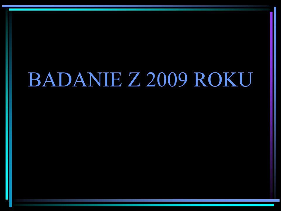 BADANIE Z 2009 ROKU