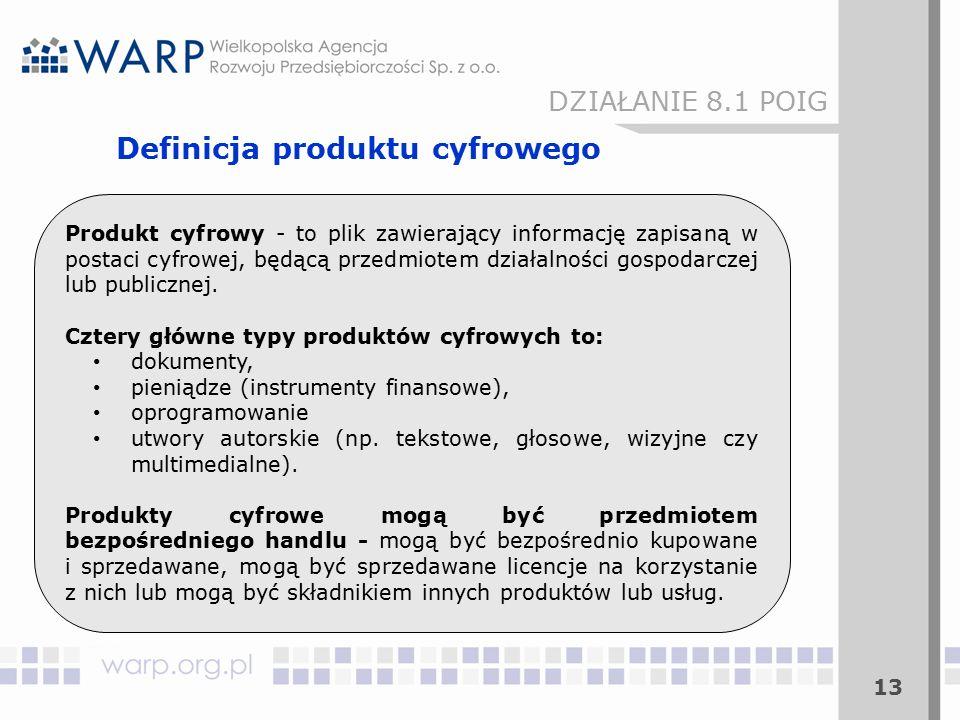 Produkt cyfrowy - to plik zawierający informację zapisaną w postaci cyfrowej, będącą przedmiotem działalności gospodarczej lub publicznej.