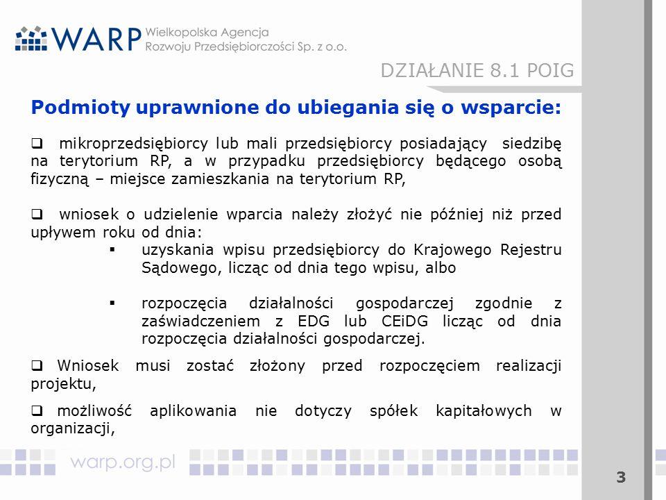 24 DZIAŁANIE 8.1 POIG Ocena formalna w RIF:  Wniosek, który został prawidłowo zarejestrowany w Generatorze Wniosków i złożony w RIF w wersji papierowej podlega ocenie formalnej.