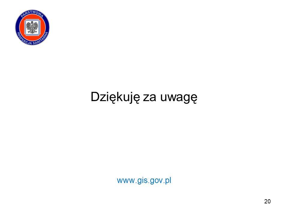 Dziękuję za uwagę www.gis.gov.pl 20
