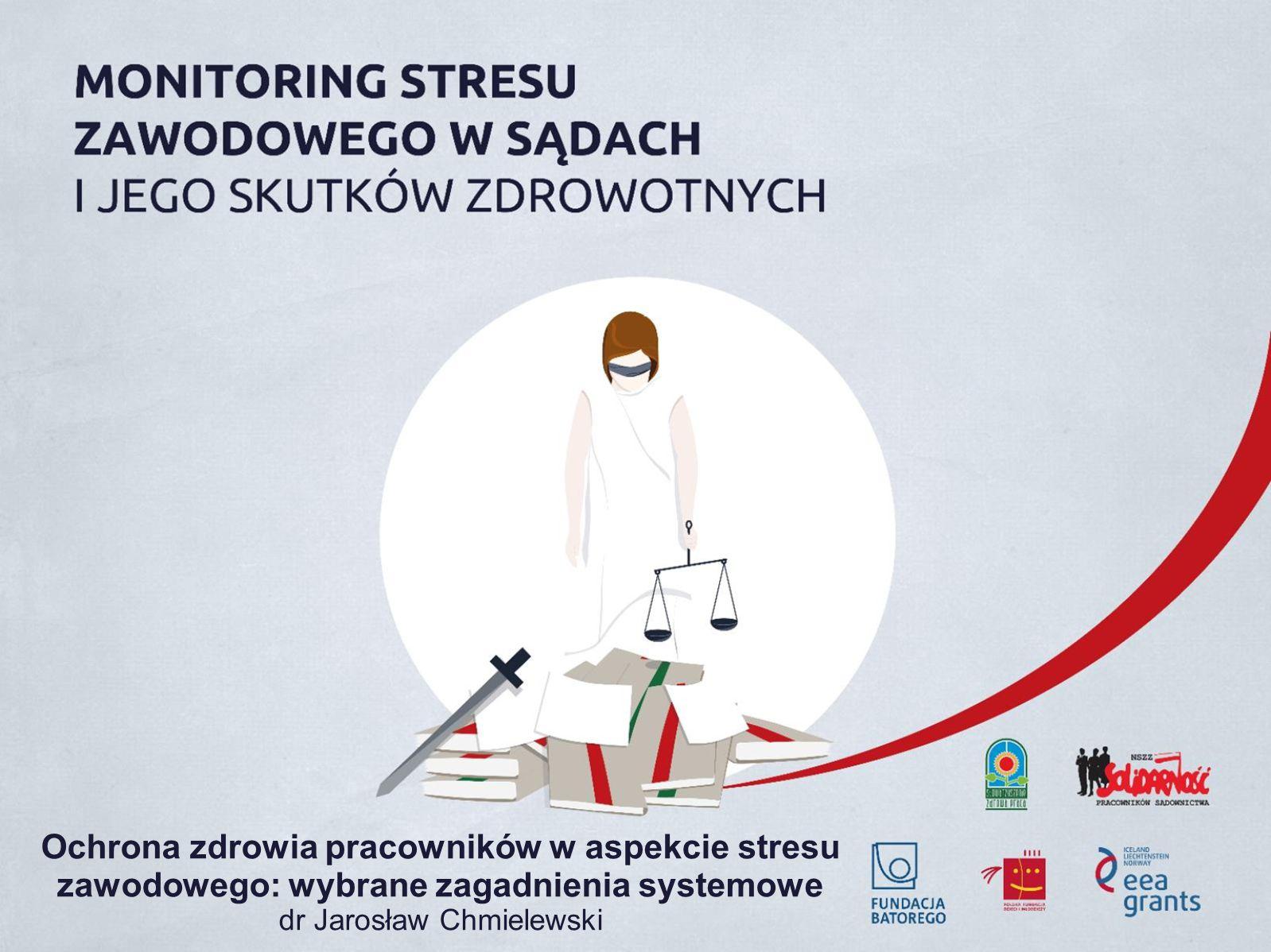 Ochrona zdrowia pracowników w aspekcie stresu zawodowego: wybrane zagadnienia systemowe dr Jarosław Chmielewski