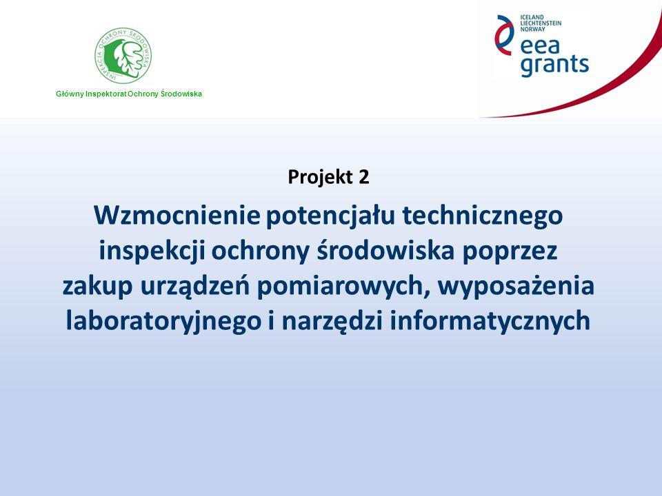 Główny Inspektorat Ochrony Środowiska Projekt 2 Wzmocnienie potencjału technicznego inspekcji ochrony środowiska poprzez zakup urządzeń pomiarowych, w