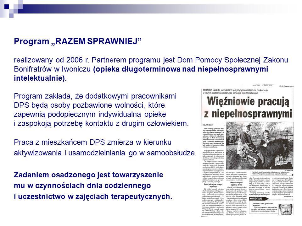 """Program """"RAZEM SPRAWNIEJ realizowany od 2006 r."""