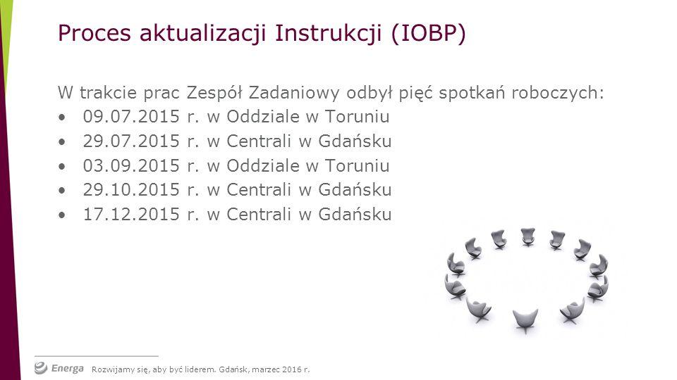 W trakcie prac Zespół Zadaniowy odbył pięć spotkań roboczych: 09.07.2015 r.