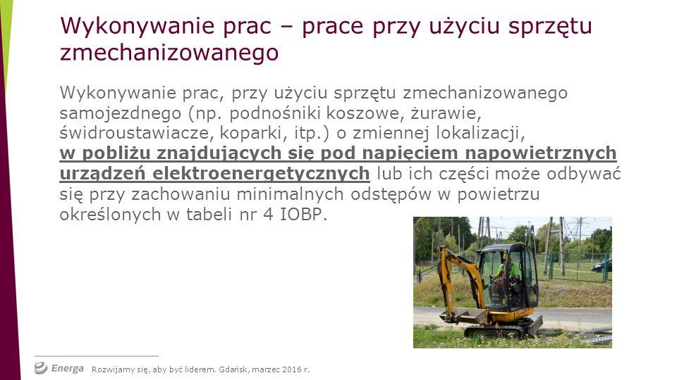 Wykonywanie prac, przy użyciu sprzętu zmechanizowanego samojezdnego (np.