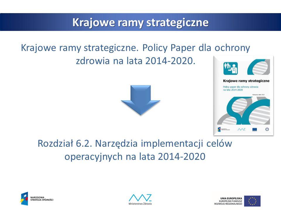 Krajowe ramy strategiczne. Policy Paper dla ochrony zdrowia na lata 2014-2020.