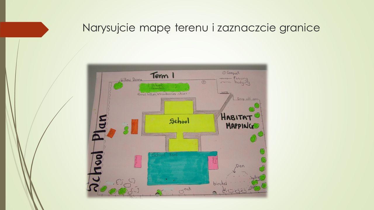 Narysujcie mapę terenu i zaznaczcie granice