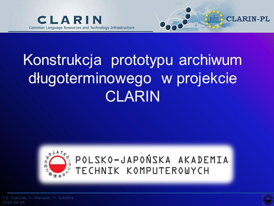 J.P.Walczak, K. Marasek, P.