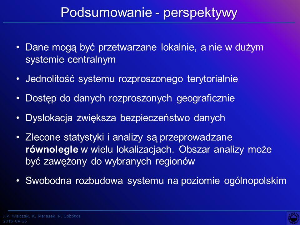 J.P. Walczak, K. Marasek, P.