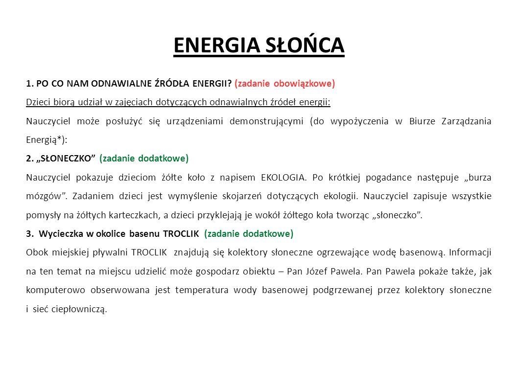 ENERGIA WODY 1.SZANUJ WODĘ.