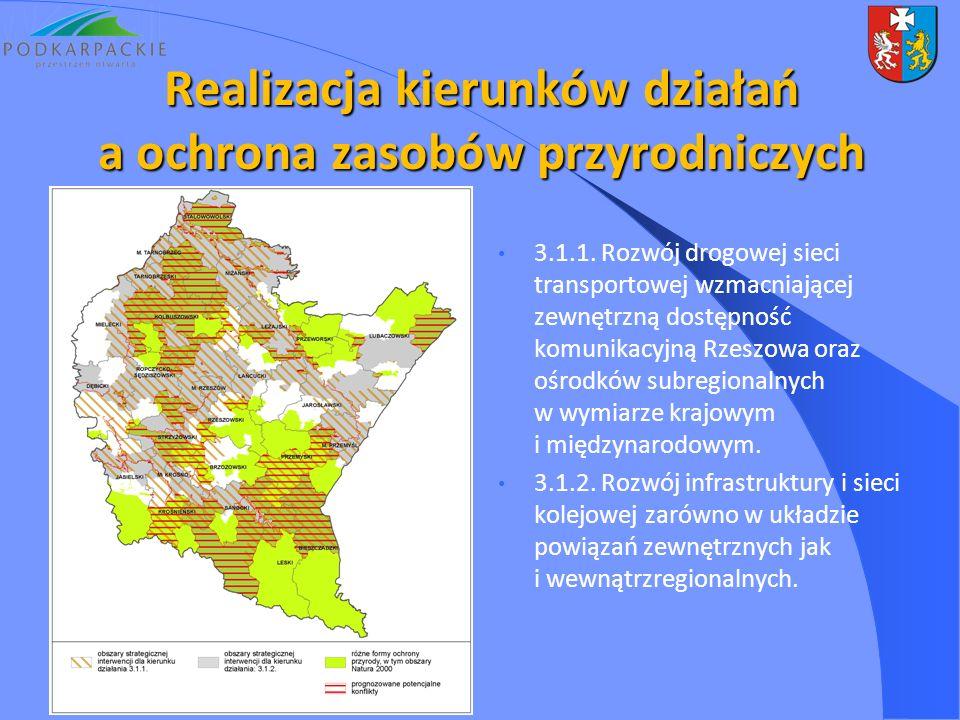 3.1.1. Rozwój drogowej sieci transportowej wzmacniającej zewnętrzną dostępność komunikacyjną Rzeszowa oraz ośrodków subregionalnych w wymiarze krajowy