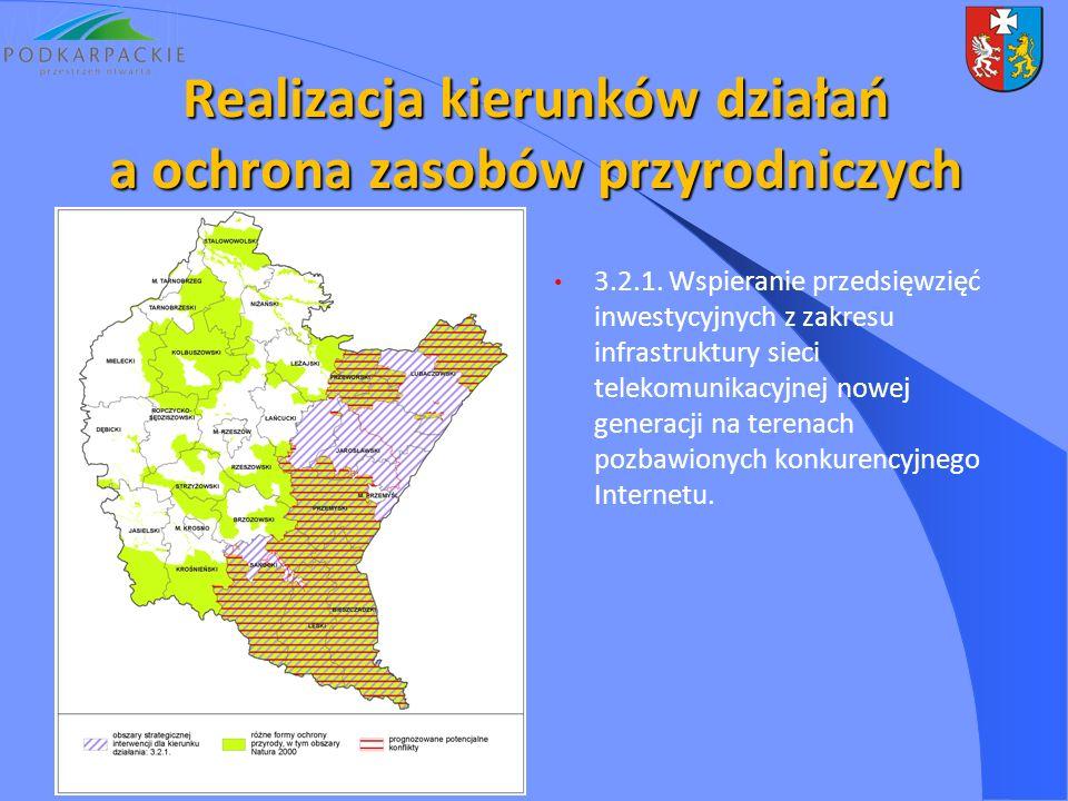 3.2.1. Wspieranie przedsięwzięć inwestycyjnych z zakresu infrastruktury sieci telekomunikacyjnej nowej generacji na terenach pozbawionych konkurencyjn