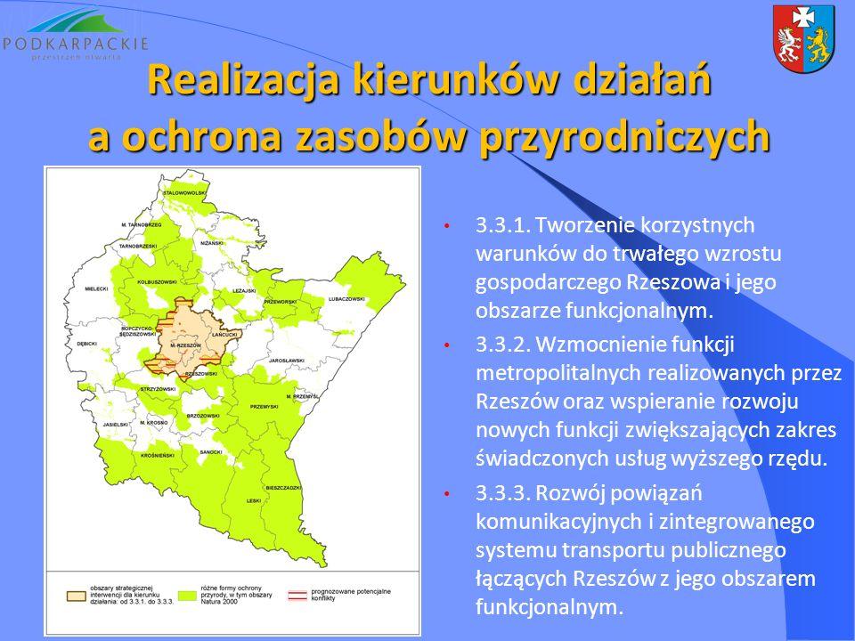 3.3.1. Tworzenie korzystnych warunków do trwałego wzrostu gospodarczego Rzeszowa i jego obszarze funkcjonalnym. 3.3.2. Wzmocnienie funkcji metropolita