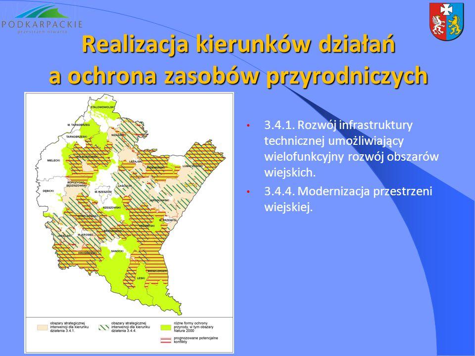 3.4.1. Rozwój infrastruktury technicznej umożliwiający wielofunkcyjny rozwój obszarów wiejskich. 3.4.4. Modernizacja przestrzeni wiejskiej. Realizacja