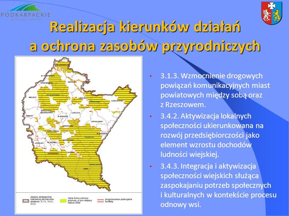 3.1.3. Wzmocnienie drogowych powiązań komunikacyjnych miast powiatowych między sobą oraz z Rzeszowem. 3.4.2. Aktywizacja lokalnych społeczności ukieru