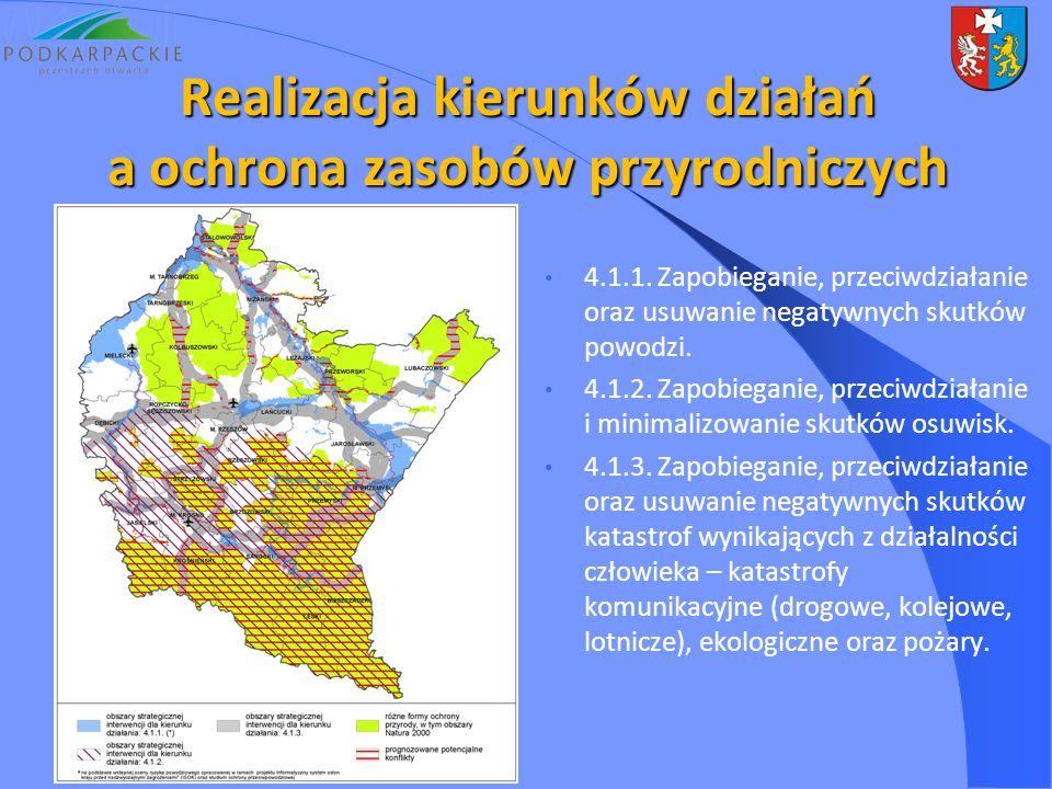 4.1.1. Zapobieganie, przeciwdziałanie oraz usuwanie negatywnych skutków powodzi. 4.1.2. Zapobieganie, przeciwdziałanie i minimalizowanie skutków osuwi