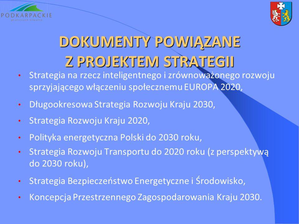 DOKUMENTY POWIĄZANE Z PROJEKTEM STRATEGII Strategia na rzecz inteligentnego i zrównoważonego rozwoju sprzyjającego włączeniu społecznemu EUROPA 2020,