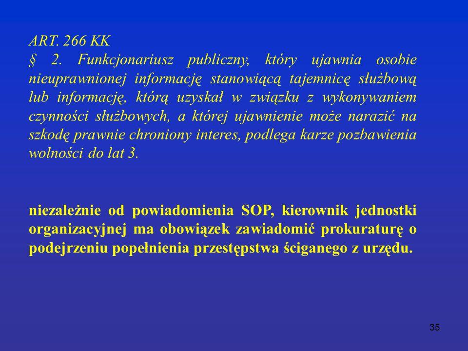 35 ART. 266 KK § 2.