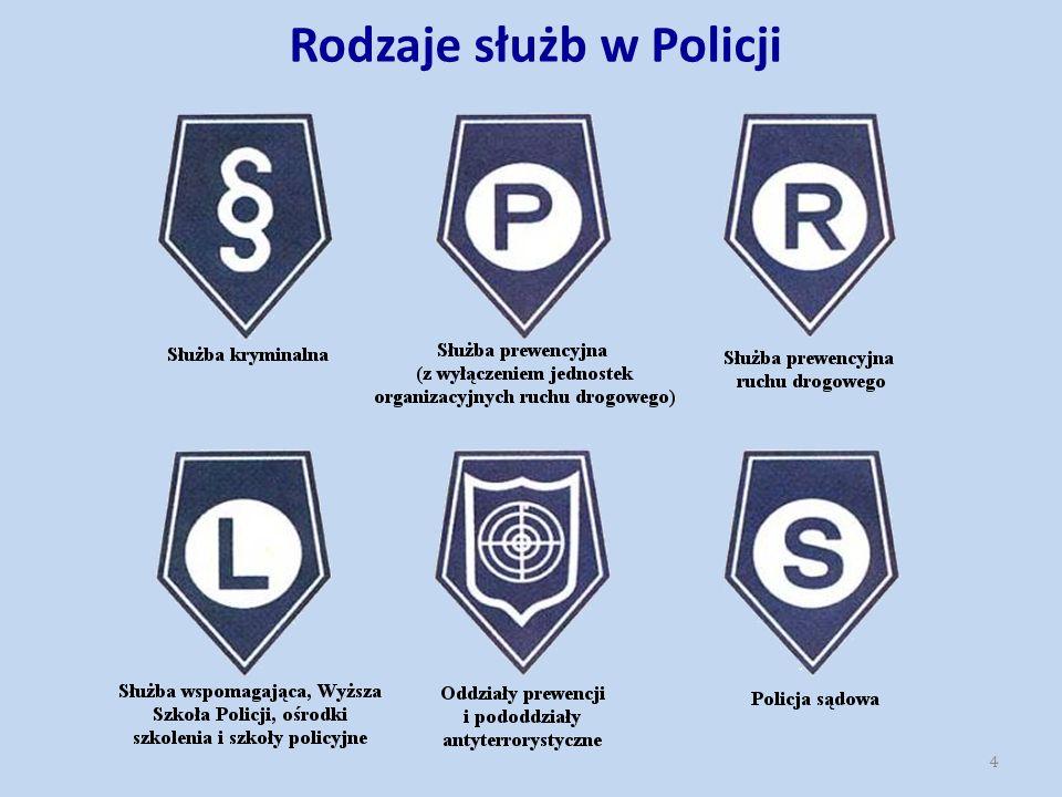 Policja jest formacją, w której obowiązuje ścisła hierarchia stopni policyjnych.