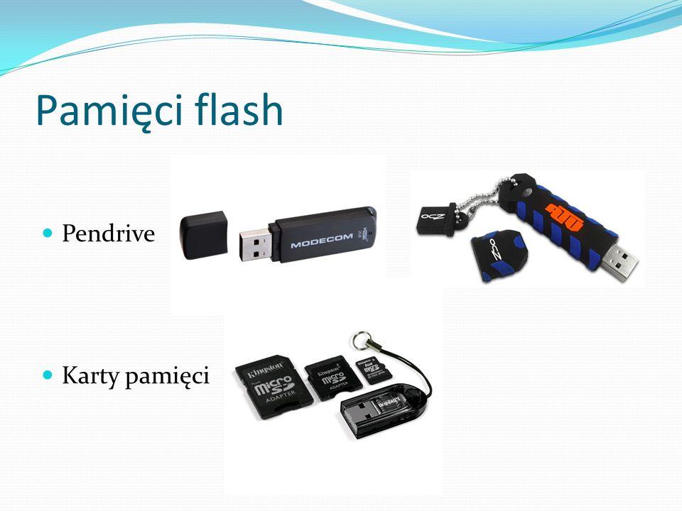 Pamięci flash Pendrive Karty pamięci
