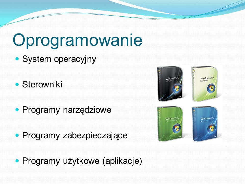 Oprogramowanie System operacyjny Sterowniki Programy narzędziowe Programy zabezpieczające Programy użytkowe (aplikacje)